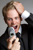 Yelling Phone Man — Foto Stock