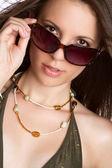 Beautiful Sunglasses Woman — Stock Photo