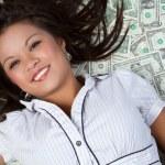 Money Woman — Stock Photo