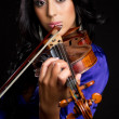 Stock Photo: Violin Woman