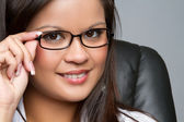 Businesswoman Wearing Glasses — Stock Photo