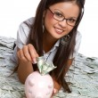 Royalty-Free Stock Photo: Money Woman