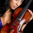 Violin Woman - Stock Photo