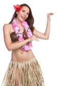 Hula Dancer Girl — Stock Photo