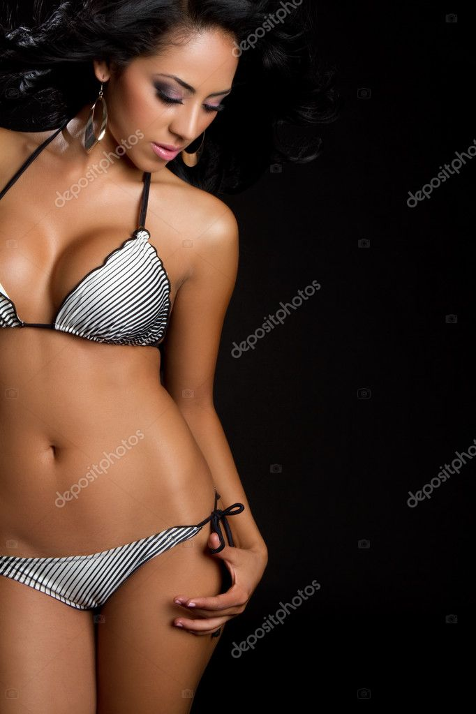 Beautiful latin swimsuit bikini woman