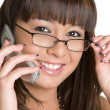Smiling Phone Woman — Stock Photo #3733873