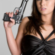 Gun Woman — Stock Photo #3733883