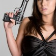 Royalty-Free Stock Photo: Gun Woman