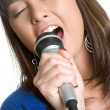 Asian Woman Singing — Stock Photo