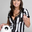 Sports Referee Girl — Stock Photo