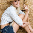Smiling Cowgirl — Stock Photo