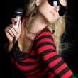 Female Singer — Stockfoto