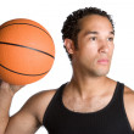 Man Holding Basketball — Stock Photo