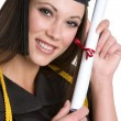 Diploma Girl — Stock Photo
