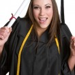 Excited Graduation Girl — Stock Photo #3733961