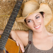 Country Guitar Girl — Stock Photo #3734021