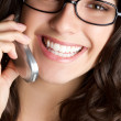 Smiling Phone Woman — Stock Photo