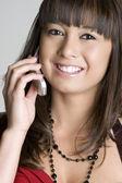 Asian Phone Woman — Stock Photo