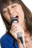 Asian Woman Singing — Stock Photo