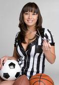 Sports Referee Girl — Stock Photo