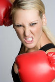 Boxing Woman — Stock Photo