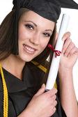 Diploma Girl — Stock Photo