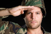 Saluting Man — Stock Photo