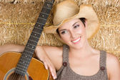Country Guitar Girl — Stock Photo