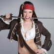 Halloween Pirate Costume — Stock Photo