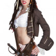 Stock Photo: Pirate Woman