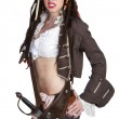 Pirate Woman - Stock Photo