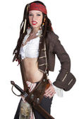 Pirate Woman — Stock Photo