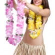 Hawaiian Lei Woman — Stock Photo #3784226