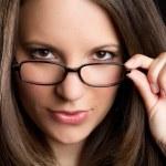 Очки женщина — Стоковое фото