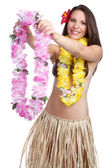 Hawaiian Lei Woman — Stock Photo