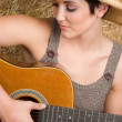 Country Guitar Woman — Stock Photo #3829533