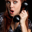 Royalty-Free Stock Photo: Vintage Telephone Woman