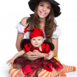 Mother Daughter Halloween — Stock Photo