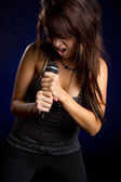 Girl Singer — Stock Photo