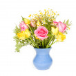 Beautiful bouquet colorful flowers — Stock Photo