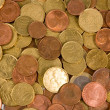 Background of euro coins isolated — Stock Photo #2762045