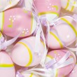 Colorful background of eastern eggs — Stock Photo