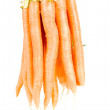 Bunch of carrot isolated on white — Stock Photo