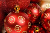 Background of christmas balls — Stock Photo