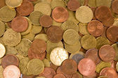 Background of euro coins isolated — Stock Photo
