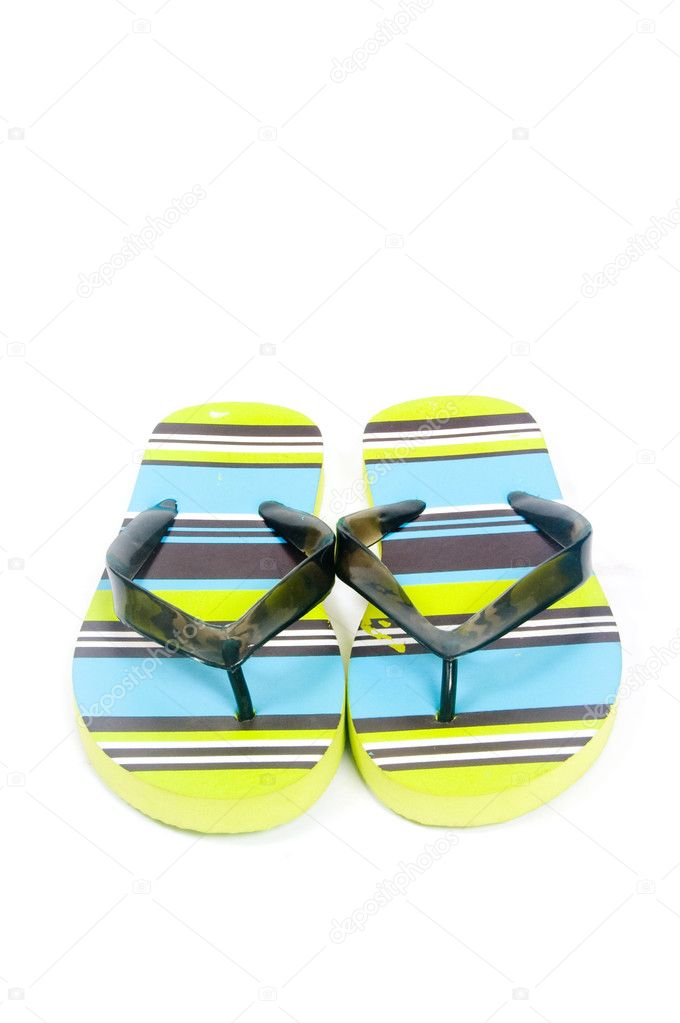 Colorful flip flops isolated on a white background — Stock Photo #2762586