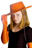 Little girl ready to celebrate queensday — Stock Photo