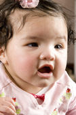 Four months old baby over white — Stock Photo