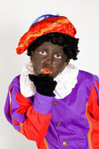Girl dressed up as zwarte piet — Stock Photo