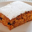Carrot cake on a plate — Stock Photo